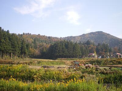 門前の秋景色