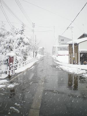 門前の道路