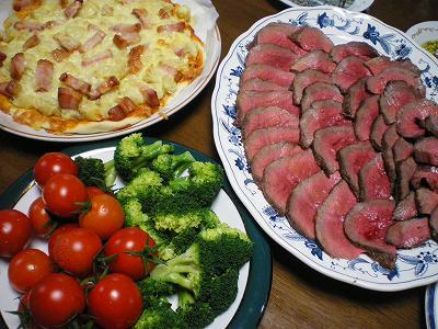 ローストビーフ&ピザ