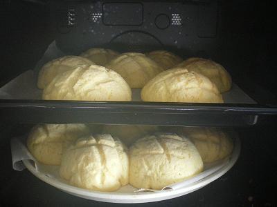 手作りメロンパン!