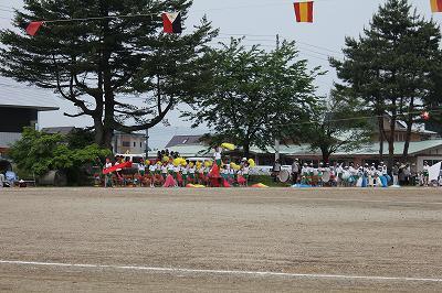 南魚沼の小学校の運動会