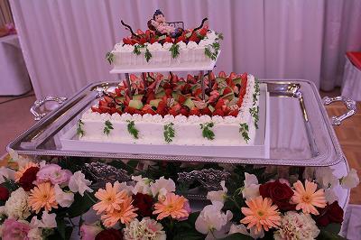 塩沢松月さんのウエディングケーキ