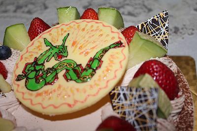 誕生日のバースデーケーキ