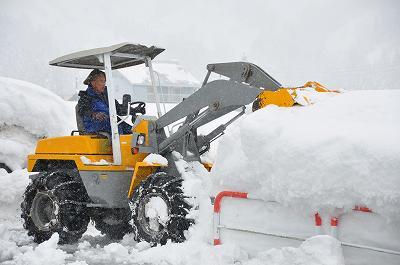 豪雪地帯の除雪